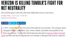Tumblr doesn't care about Net Neutrality anymore. - All The Little Things to Make Us Feel Better