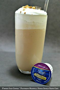 S'mores Iced Coffee featuring Maxwell House Single Serve Cups #MaxwellHouseRules #cbias
