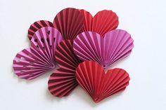 Resultado de imagen de corazones de papel
