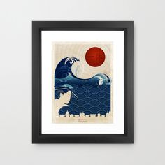 With a mix of geometric repetition and natural beauty, this print was inspired by support for Japan following the 2011 Tokyo Earthquake. This gallery-quality print comes on archival paper and is ready ...  Find the Rising Sun Print, as seen in the How Do You Tokyo? Collection at http://dotandbo.com/collections/how-do-you-tokyo?utm_source=pinterest&utm_medium=organic&db_sku=97608