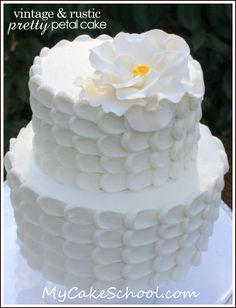 Rustic Bridal Shower Cakes | ... serve up this pretty petal cake created by melissa from my cake school