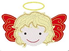 Angel - 4x4 | Christmas | Machine Embroidery Designs | SWAKembroidery.com Stitch-Ville