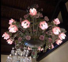 Lámpara de flores