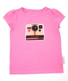 78f2c53dd9a Take a look at this Alejandra Kearl Designs Pink Retro Camera Cap-Sleeve  Tee - Infant