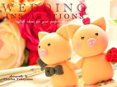 pig wedding cake topper. adorable.
