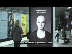This Swedish Subway Billboard About Child Cancer Is Extremely Powerful