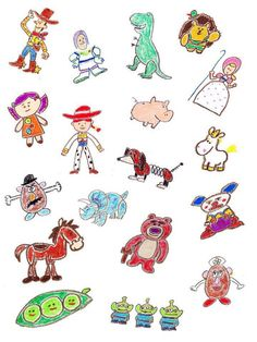 Cumple Toy Story, Festa Toy Story, Toy Story Party, Bff Birthday Gift, Toy Story Birthday, Birthday Gifts For Kids, Disney Character Drawings, Disney Drawings, Cute Drawings