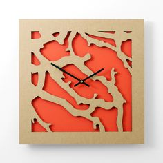 Fab.com | Square Branch Clock Red