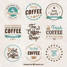 Vintage emblemas casa de café                                                                                                                                                                                 Mais
