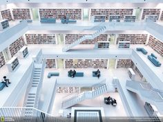 Levels of Reading - Natural lighting in the public library of Stuttgard, Germany.