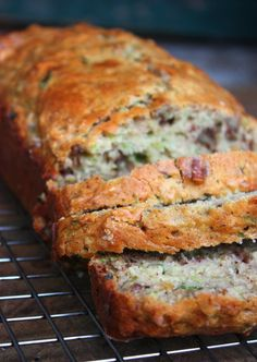 Zucchini bread - added chocolate chips and subbed apple sauce and Greek yogurt for the eggs. Delish!