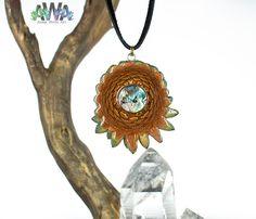 Abalone Shell AwA Pinecone Pendant by AmberWhiteArt on Etsy