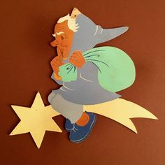 Hellerkunst Fairy Tale Fretwork Art Dwarf on Comet Star / Märchen-Holzbild Komet | eBay