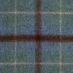 Brown/Blue/Green Tartan Plaid Wool Coating