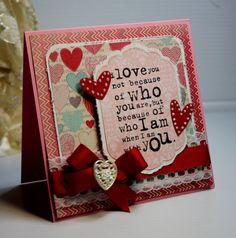 Valentine's Handmade Card  Greeting Card  I Love by CardInspired
