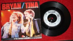 "BRYAN ADAMS + TINA TURNER - It's only Love - Vinyl 7"" Single - A&M Records"