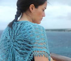 Ravelry: Crucero Shawl pattern by Laura Nelkin, with beaded crochet edging