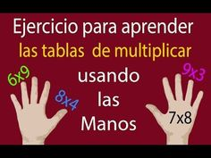 Método para aprender las tablas de multiplicar muy fácil - YouTube Primary School, Elementary Schools, Math Multiplication, Worksheets For Kids, Study Tips, Math Games, Teaching Math, School Projects, Teacher Resources