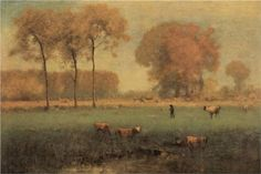 Summer Landscape - George Inness  1894, Tonalism
