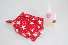 Red Star Ripstop Medium Wash Box Bag  Wipe-able by LottieDeanBags