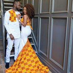 The most trendy and beautiful ankara styles and designs outfit for couples compilation. African Wedding Theme, African Wedding Attire, African Attire, African Wear, African Dress, African Weddings, Nigerian Weddings, Couples African Outfits, Couple Outfits