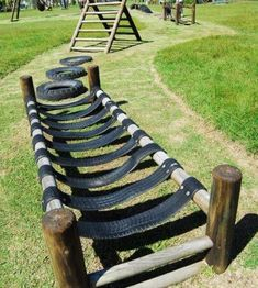 Tire Playground, Natural Playground, Playground Design, Playground Ideas, Kids Outdoor Playground, Backyard Obstacle Course, Kids Obstacle Course, Backyard For Kids, Backyard Games
