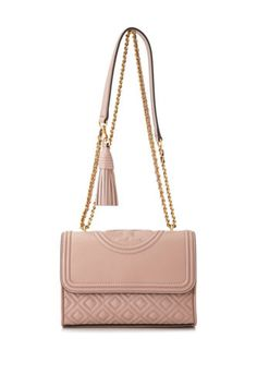 967edfa6f8167a Tory Burch Fleming Small Convertible Shoulder Bag (Beige, Pink; Leather)