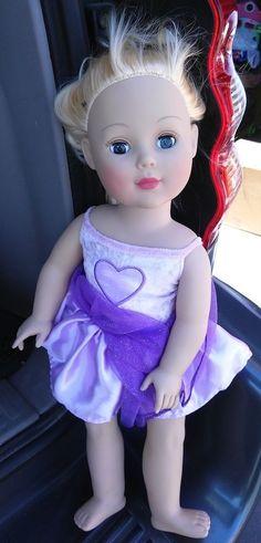 "Madame Alexander 18"" Doll Blonde Blue Eyes Soft Pink Lips"