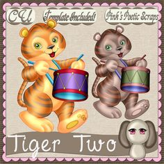 Tiger Two (FS-CU-TEMPLATE-PSP SCRIPT) [Pink] : Scrap and Tubes Store, Digital Scrapbooking Supplies