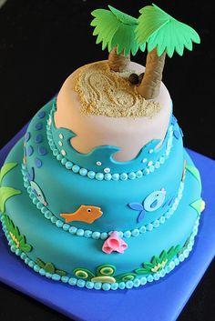 desert island cake designs - Google Search