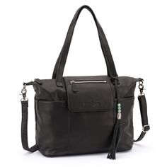 Madeline in Black / love that it converts to a backpack, so handy for a diaper bag