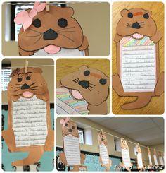 Otter writing.