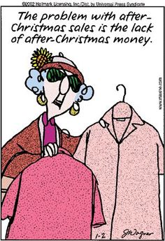 Maxine -- after-Christmas sales