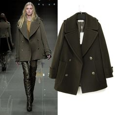 mint & pea coat | Fashion Finds | Pinterest | Catwalks