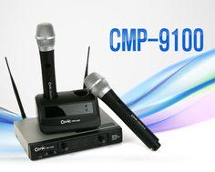 DigitalCom Professional  Wireless Microphone System CMP-9100 Dual Handheld #DigitalCom