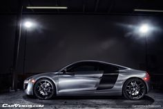 Brushed Steel (3M 1080) wrap gives a sports car a more industrial feel