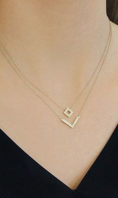 Make getting ready even easier with this already layered necklace. #diamonds #necklaces #danarebecca