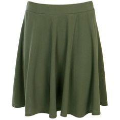 Boohoo Leanna Ribbed Skater Mini Skirt | Boohoo ($11) ❤ liked on Polyvore featuring skirts, mini skirts, short pleated skirt, mini skirt, pleated maxi skirt, short skirts and green pleated skirt