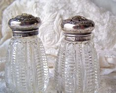Vintage Salt and Pepper Shaker Set Sterling and by cynthiasattic, $49.00