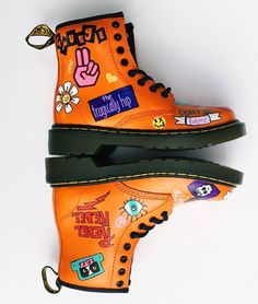 So bright and uplifting! Dr. Martens, Doc Martens Boots, Sock Shoes, Cute Shoes, Me Too Shoes, Dream Shoes, Pumps, Heels, Shoe Game