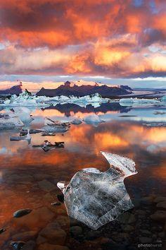 Jokulsarlon Lagoon, Asturland, Iceland.