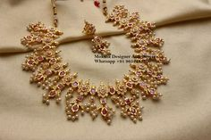 Earrings screw back. Stunning one gram gold necklace with matching earrings. Gold Jhumka Earrings, Diamond Necklaces, Choker Necklaces, Diamond Choker, Necklace Set, Gold Necklace, Bracelets, Gold Jewelry Simple, Gold Jewellery
