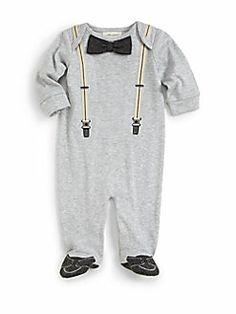 Miniclasix - Infant's Suspender Print Footie