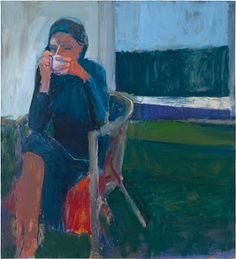 Richard Diebenkorn's painting of a woman drinking a cup of coffee. http://www.cynthiasblog.com/2013/08/richard-diebenkorn-at-deyoung-museum.html