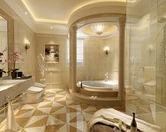 fancy bathrooms | Luxury bathroom 3D Model .max