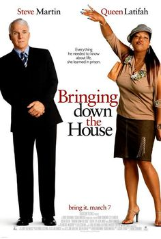 Bringing Down The House ~ Steve Martin, Queen Latifah, Eugene Levy, Joan Plowright, Betty White. Queen Latifah, Steve Martin, Comedy Movies, Film Movie, Drama Movies, Old Movies, Great Movies, Movies Showing, Movies And Tv Shows