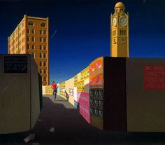 Jeffrey Smart (Italy, Australia 26 Jul 1921 – 20 Jun Title Central Station II Other titles: Central Station Year Painting Materials used synthetic polymer paint on canvas Copyright © Estate of Jeffrey Smart