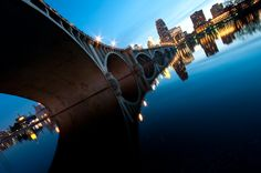 The Stone Arch Bridge is a Minneapolis icon. The surrounding areas boast running/biking trails, restaurants, movie theaters and frequent summer festivals.