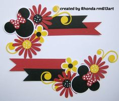 Disney Minnie Mouse Paper Piecing SET FOR Scrapbook Pages Rhonda RM613ART | eBay