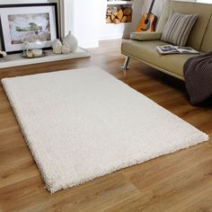 CREAM IVORY THICK PLAIN SOFT SHAGGY RUGS MODERN HIGH PILE HOME KITCHEN RUNNER